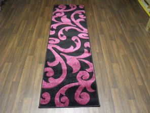 Modern Runners 60x220cm Aprox 8ft Hand Carved Super Quality Vine Black/Purple